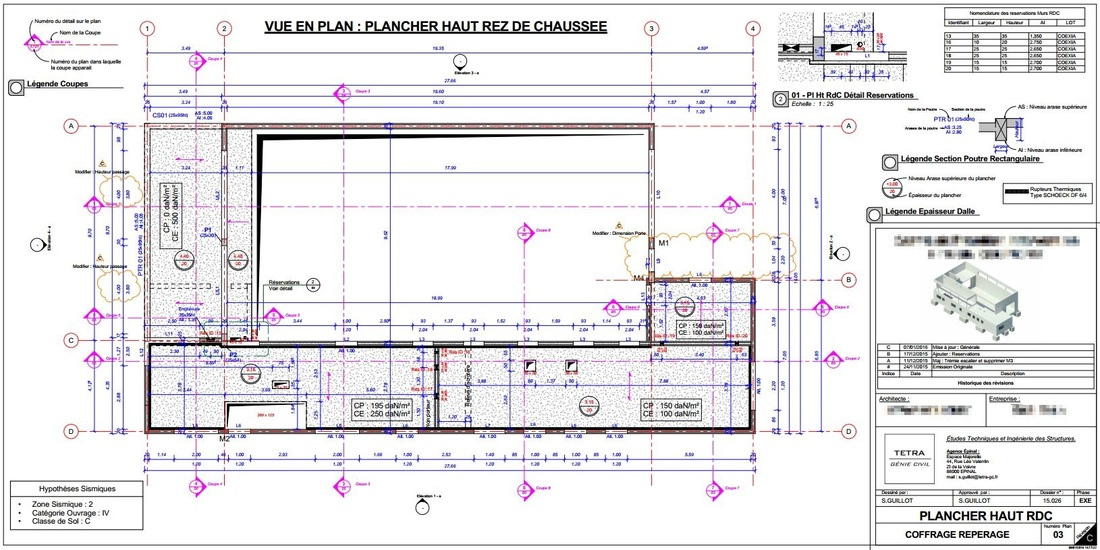 Vues coupes plans for Les plans de lowe